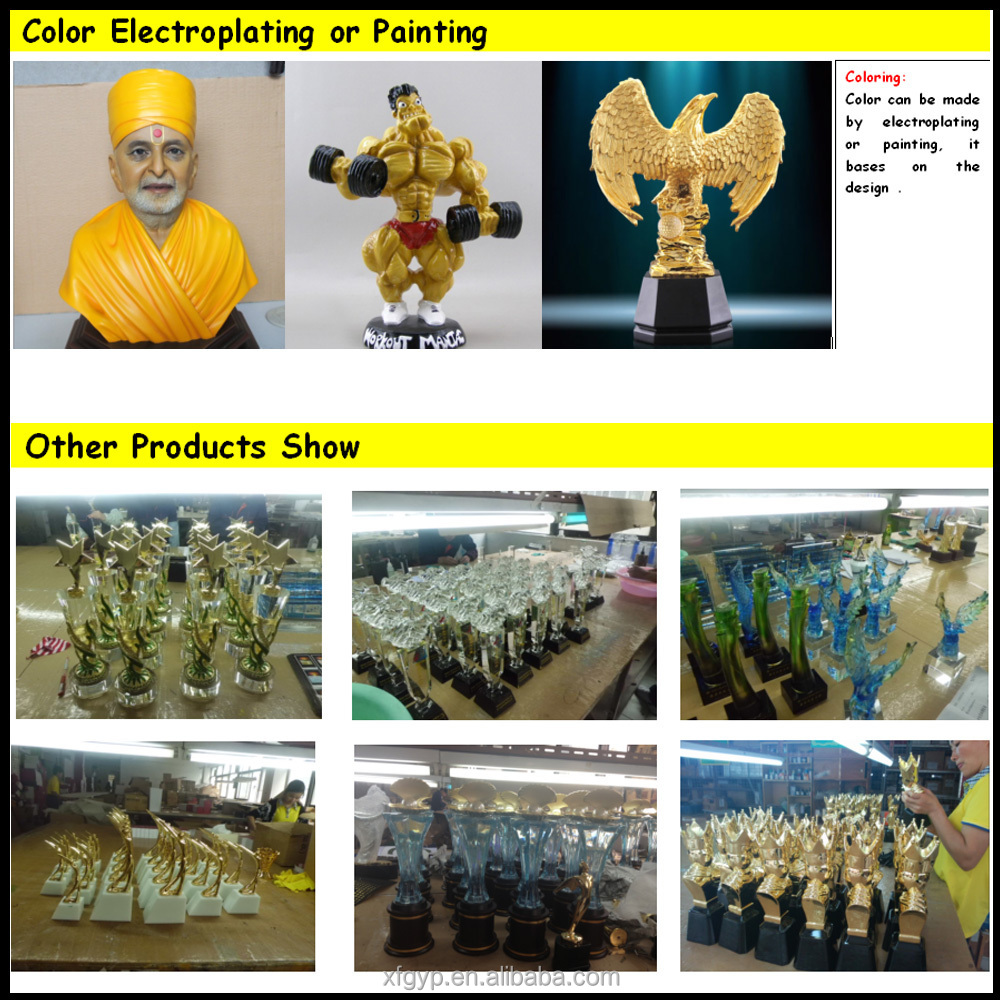 high end colored glaze crystal statue awards