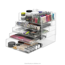 Hot sale low price clear acrylic makeup organizer, 5 drawer acrylic makeup organizer