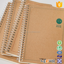 Custom A5 Recycled Kraft Paper Spiral Notebook