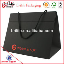 High Quality Paper Foldable cardboard box with rope handle Wholesale In Shanghai