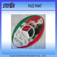 Green White Red flag face paint stick for Football fans face painting for European Cup/World Cup