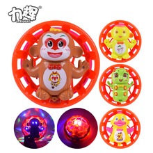 Children favorite good selling OEM custom monkey king led spinning toys