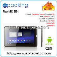 2012 best selling tablet 9.7'' andriod 4.0 A10 1.2GHz, Capacitive 5 Point Gorilla Glass,Double Camera,android tablet