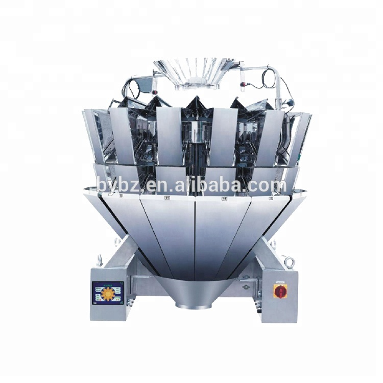 Vertical granule packing machine measuring system multihead weigher for snacks Slice Chips Foods ,brazil nuts