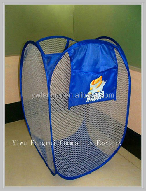 Wholesales folding and durable laundry basket net