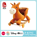 China custom wooden rocking horse hobby ride on pony for kids