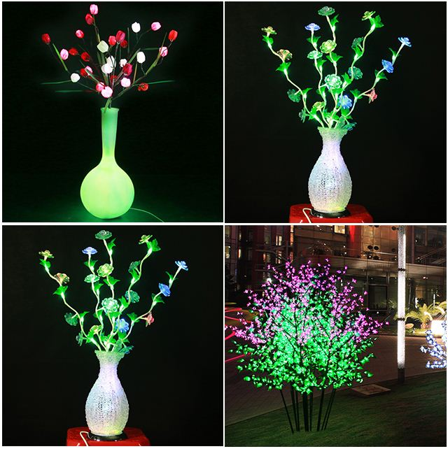 LED decorative artificial latex flowers orchids
