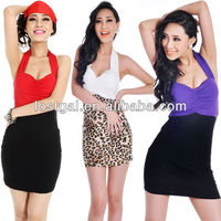 2013 Hot sale sexy halter corset backless sexy girl cocktail dress A132