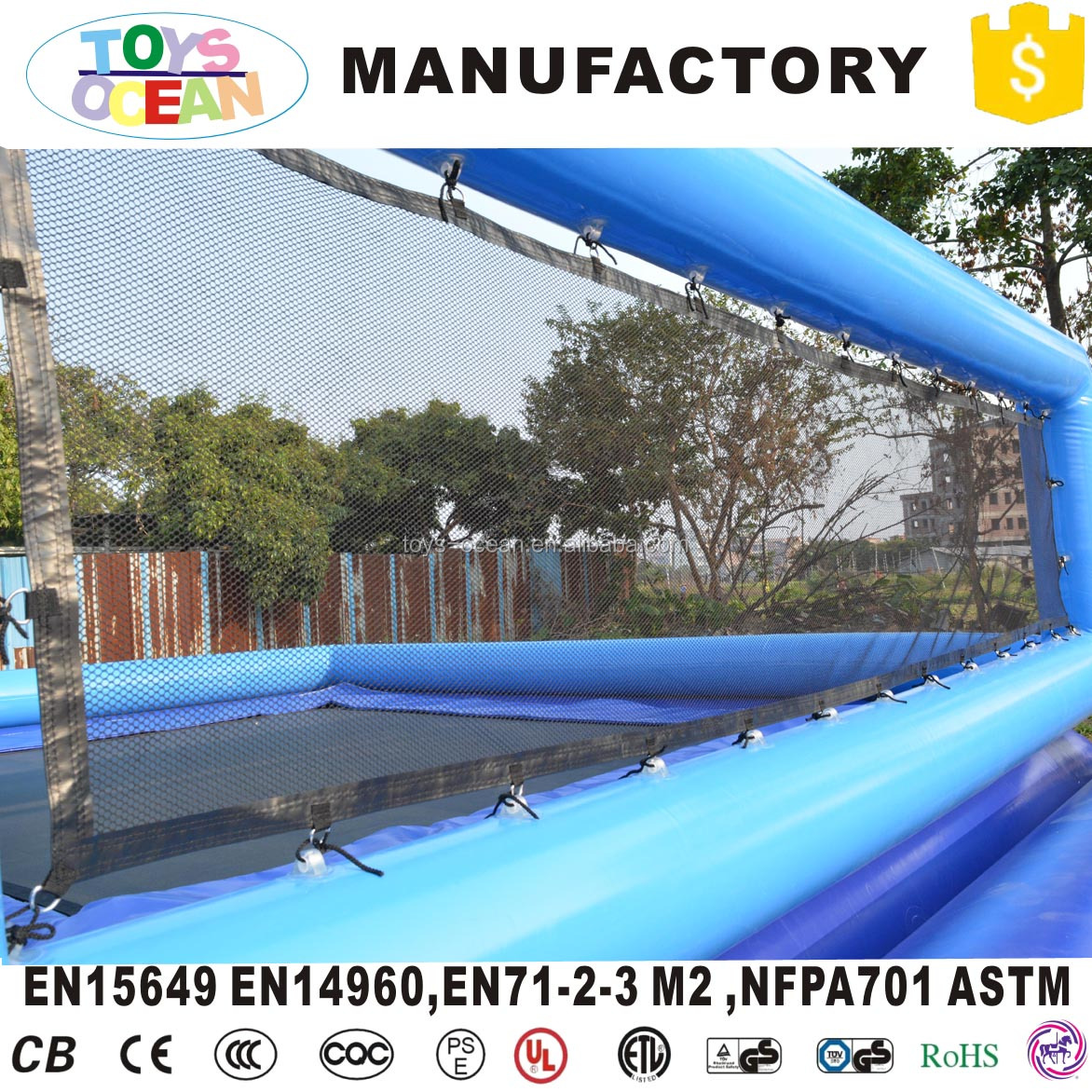 summer outdoor water game inflatable beach floating volleyball court