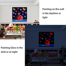 China Factory Oil Painting canvas,glow in the dark painting no 5d diy diamond oil painting on canvas