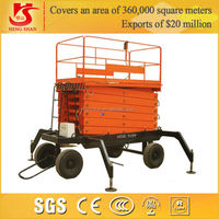 tail type SJM model hydraulic lifting platform for sale