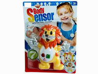 Kids B/O Electrical Musical Touch Sensor Toy Lion Body Sensor Interative Player