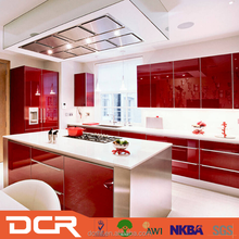 Modern Design Modular Red Lacquer Kitchen Cabinet