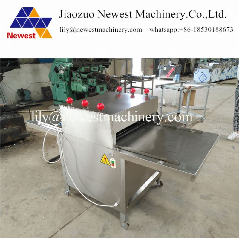 Big size sugar pie cake flatting machine grains bar flattening machine