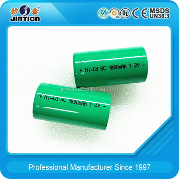 nicd sub c 1.2v battery 1800MAH