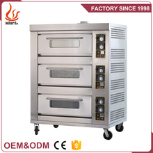 Baking Restaurant 3 Layer 6 Tray gas industrial bread baking oven for sale