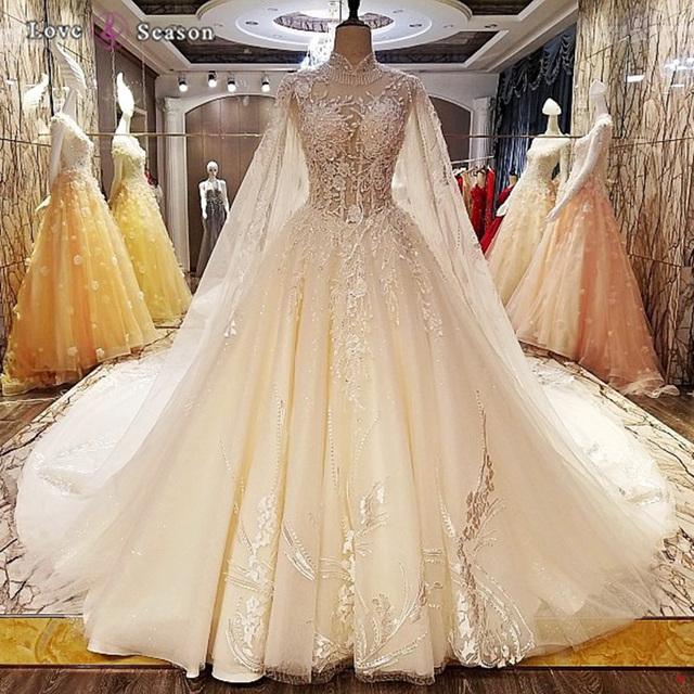 2017 high neck wedding gowns_Yuanwenjun.com