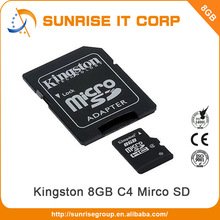 100% Full Capacity class 4 mobile phone sd 8GB memory card