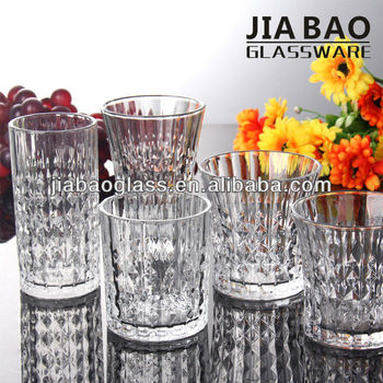 High quality engraved home goods drinking glass tumbler crystal water glass cup tea glassware