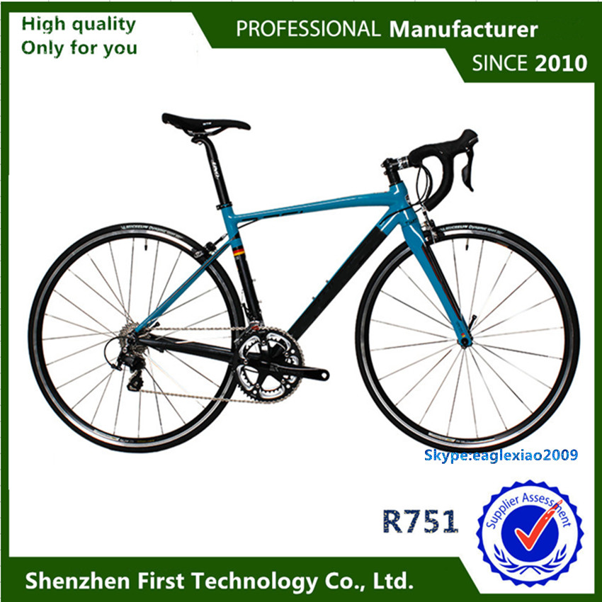 7050 aluminum alloy frame road bikes carbon fiber fork racing bicycle