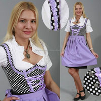 long sleeve black sexy leather dirndl dress