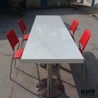 Kingkonree touch screen table for restaurant / marble top coffee shop table