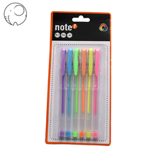 Free samples school colored plastic neon glitter gel ink pens set