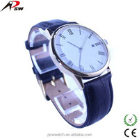 Best selling thin case watch fashion leather watch