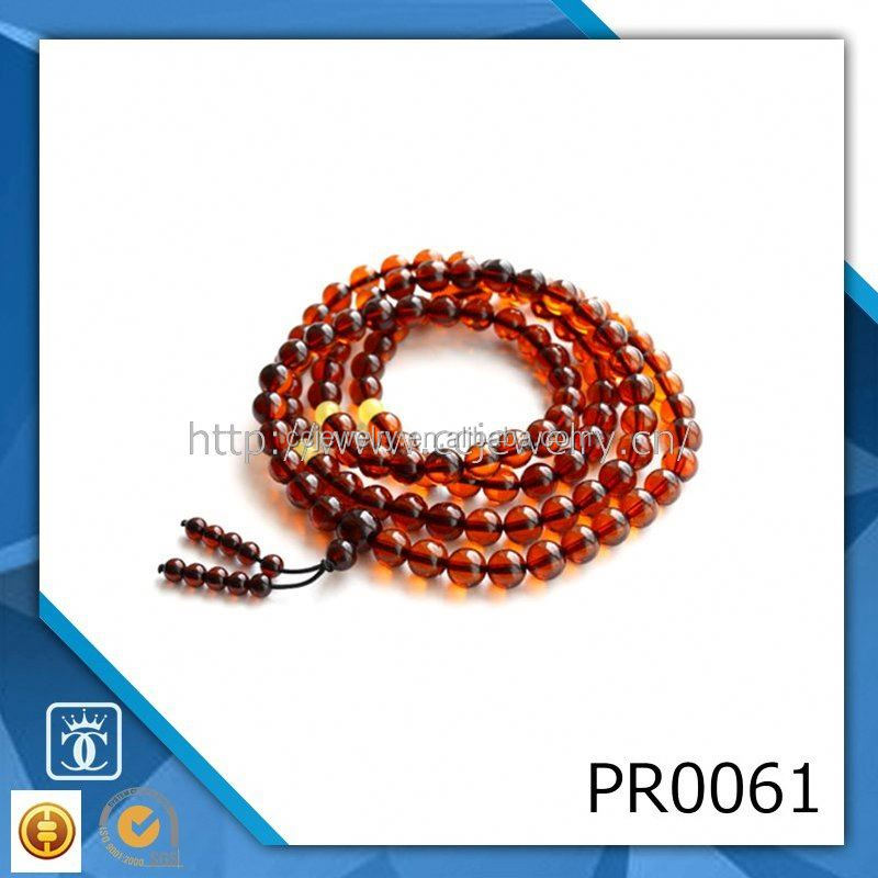 108pcs lava beads necklace natural-sandalwood beaded necklace mala buddist prayer beads yellow islamic wood prayer beads
