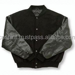 American College Student Leather Varsity Jacket , Customized Varsity Jacket,Baseball Jacket