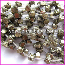 PB1123 Natural pyrite for sale, pyrite rough cube beads