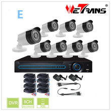 1080P AHD DVR Kit HD KIT-5208D-E 8 Channel 1080P Indoor Outdoor IR CCTV Camera Support Mobile View DVR KIT 8CH