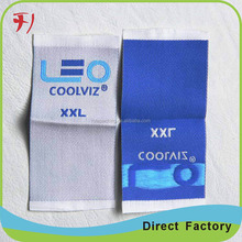 Custom cheap woven main label end folded clothing labels for working boots