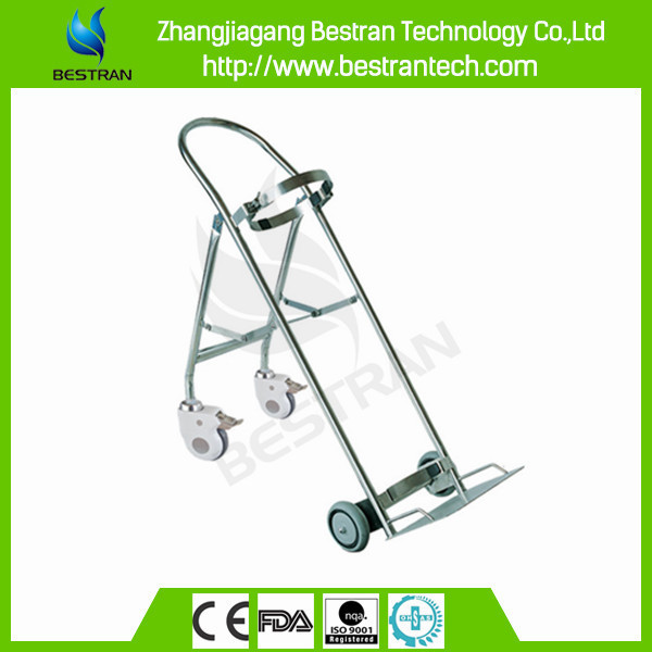 BT-SDT008 Stainless steel medical oxygen cylinders carts,medical rolling carts