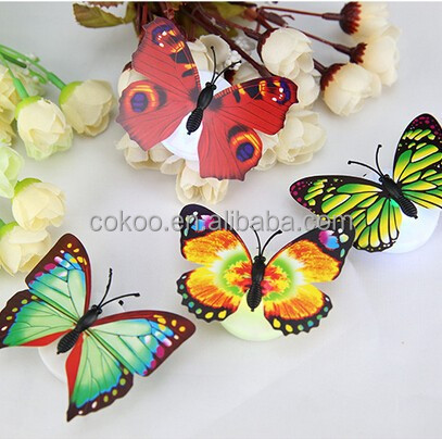 new hot sale Artificial butterfly led flashing bagdes