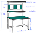 Word table without motor,assembly line without a belt,customize size.Aluminum table