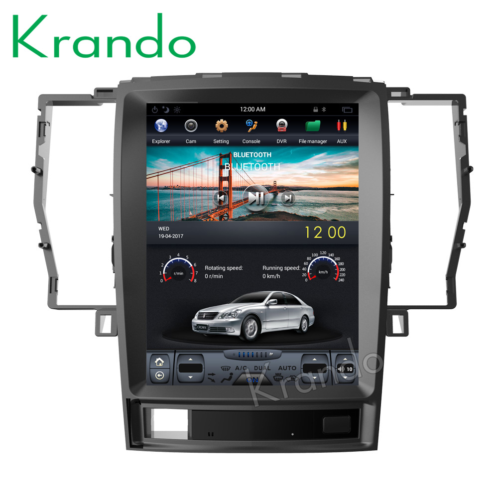 "Krando Android 12.1"" Vertical screen car radio for Toyota Crown 2008-2012 gps navigation multimedia system player KD-TV131"