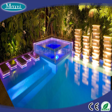 Big power swimming pool fiber optic lighting LED pool light with LED light source and side fiber cable