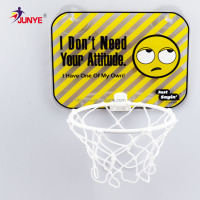 Ning Bo Jun Ye custom mini plastic basketball board and hoop for child