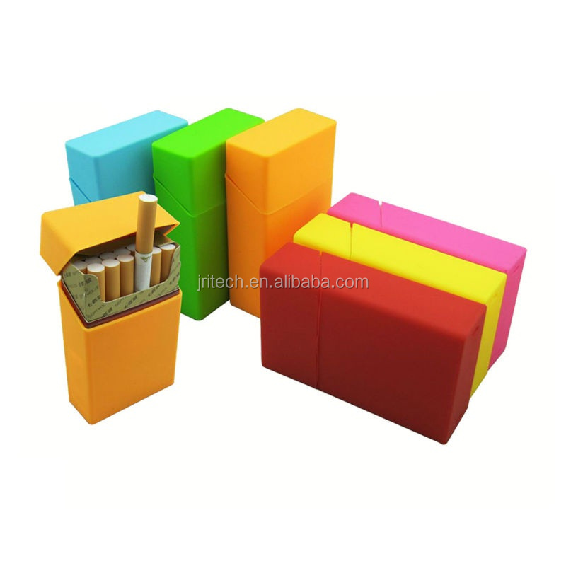 Soft Silicone Cigarette Case Tobacco Storage Pocket Box Holder Silicone Blank Cigarette Boxes