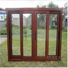 Wooden color opaque glass windows