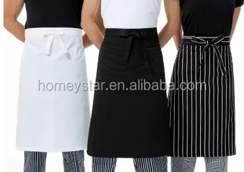 stripe apron for bar and restaurant