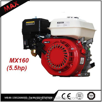5.5hp OHV Small Air Cooled Gasoline Engine 168f For Boat Provide Power