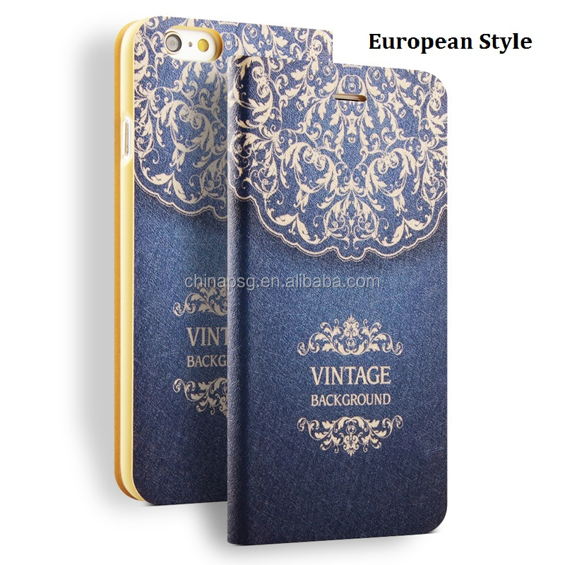 Color Painting PU Leather Cover Case for iPhone 6 6S 7, Anti Gravity Mobile Phone Case for iPhone
