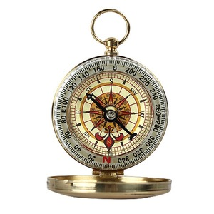 Low quantity outdoor pocket watch waterproof compass luminous gift multifunction pocket watch