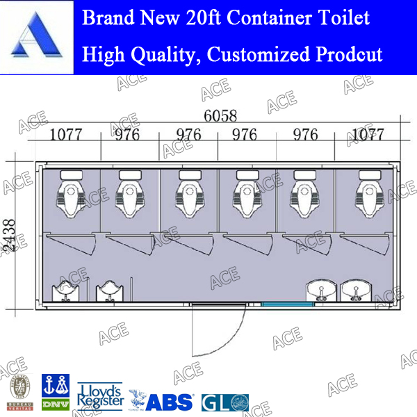 portable toilet container for sale