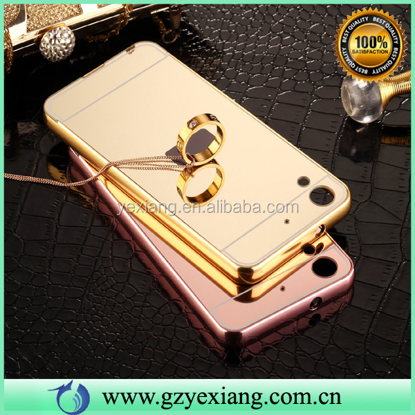 Gold Color Mirror Skin Back Cover- Metal Bumper Case For HTC Desire 826 High Quality