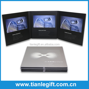 Special Style 7 Inch LCD Advertising Card Video Mailer with 3 Screens
