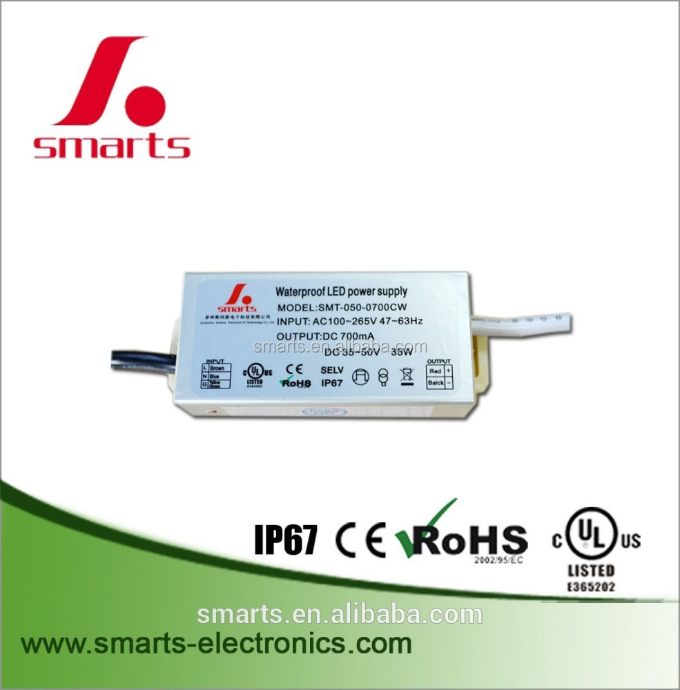 100-265vac 35w constant current led driver 700ma
