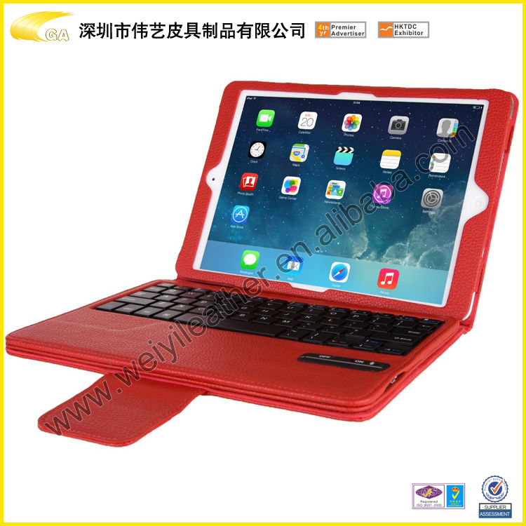 Factory Price For 13.3inch Tablet pc Leather Keyboard Case Small MOQ Accepted Made In China Small MOQ Accept With Red Color